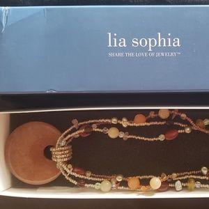 Lia Sohia - retired round stone and bead necklace